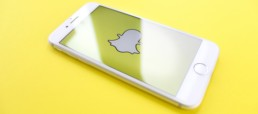 snapchat logo on iphone x