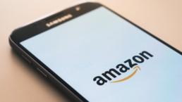 amazon logo on smartphone screen